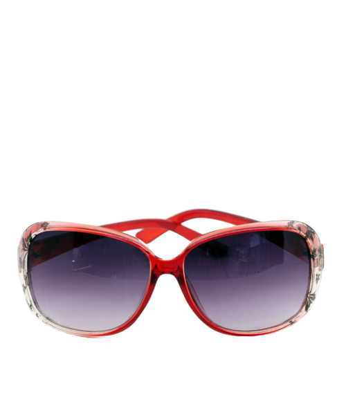 Oversized purple lens womens sunglasses.