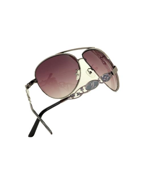 Oxidised frame womens aviator sunglasses.