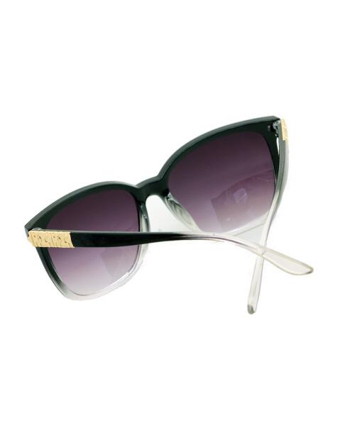 Wayfarer purple lens transparent sunglasses women.
