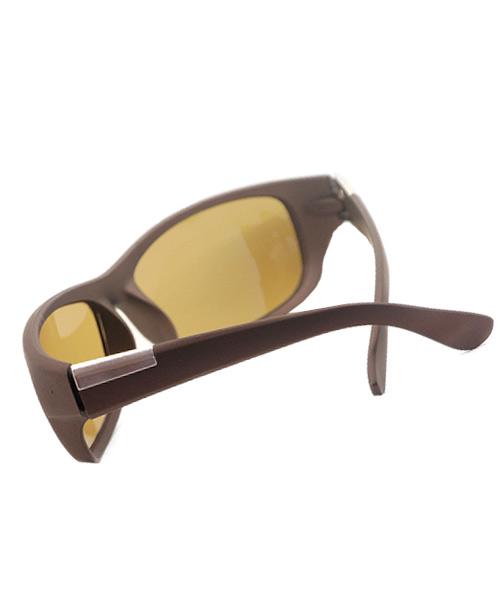 Golden brown matt finish sunglasses for girls.