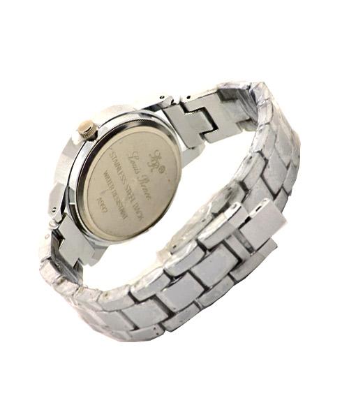 Silver glittering powder women's watch.