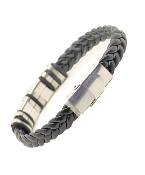 Braided metal rings girls bracelet safety clasp.