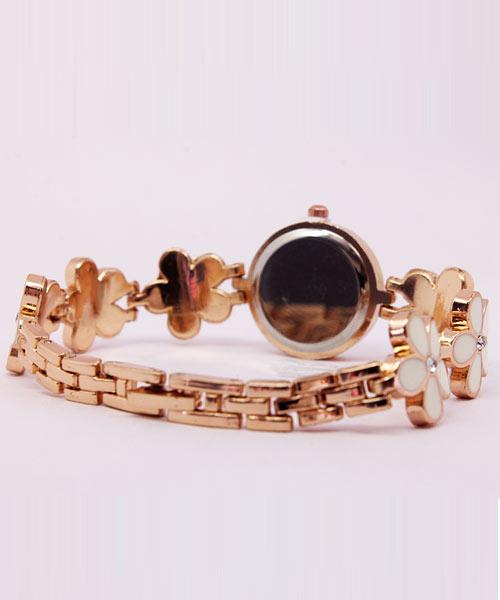 Rose gold watch womens bracelet.