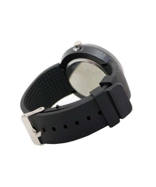Rotating discs student silicone strap watch.