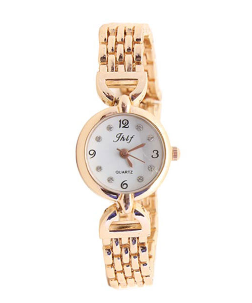 Gold plated bracelet womens watches.