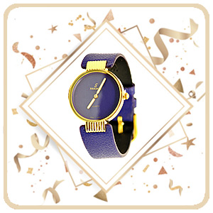 Shadoe blue strap girls social watch