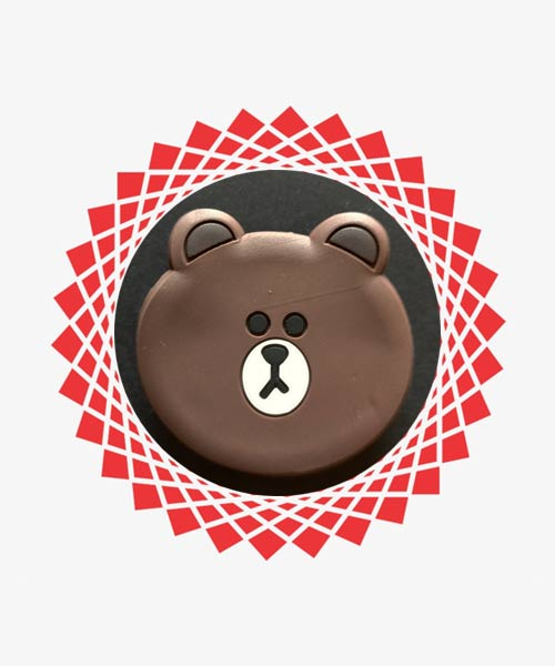Animal silicone mobile popsocket.