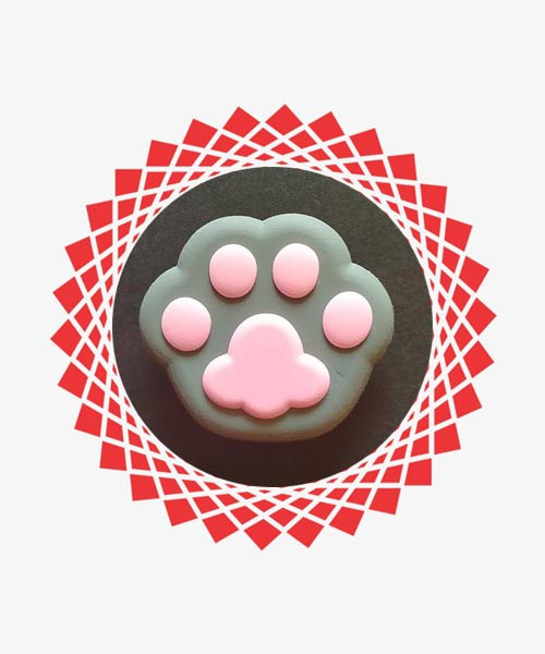 Paws footprints silicone mobile popsocket.