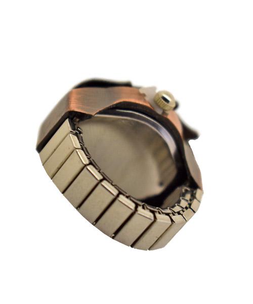 Skull Flame Retro Vintage Finger Ring Watch.