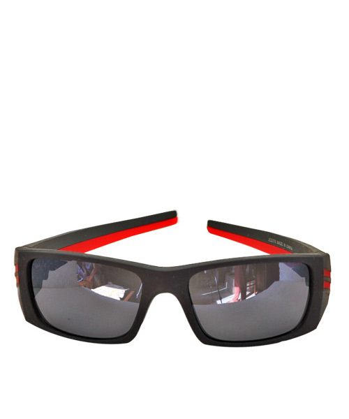 Best matt black red sports sunglasses.