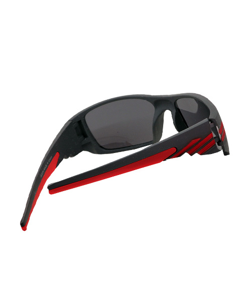 Best matt black red sports sunglasses.