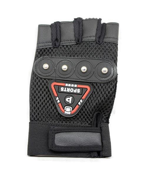 Half finger leather bike sports glove.