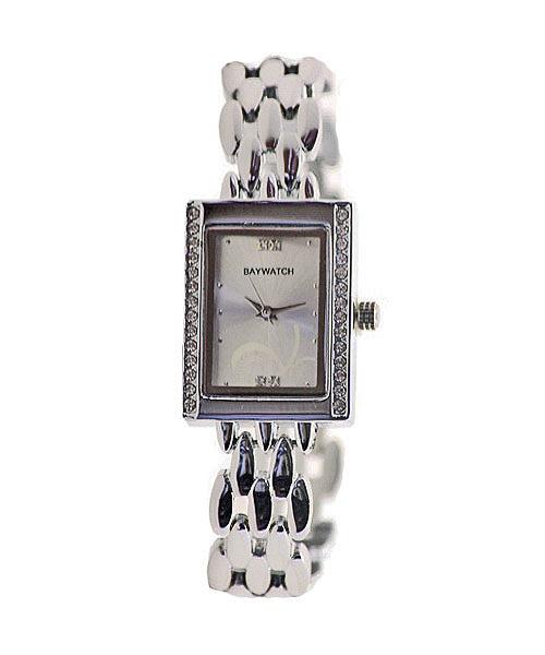 Tank shape diamond studded wrist watch for girls.