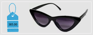 Girls Black Cateye Sun Shades