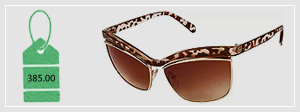 Girls Brown Gold Leopard Print Cateye Sunglasses