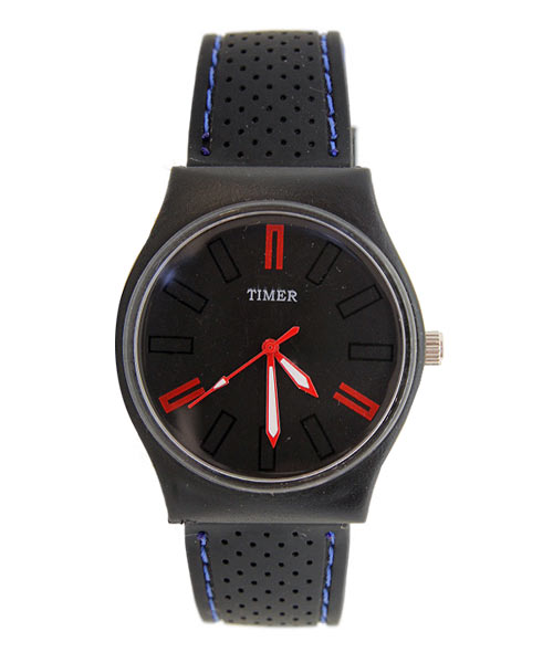 Black blue silicone timer watch boys.