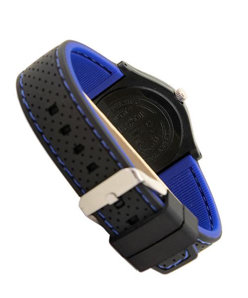 Black blue silicone timer watch boys.