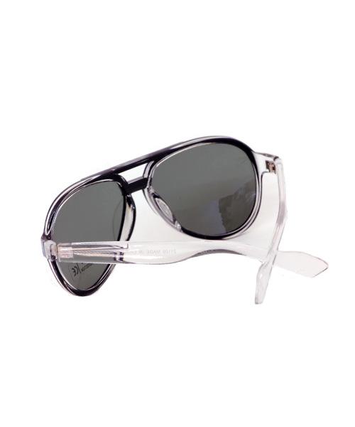 Aviator transparent sunglasses for women.