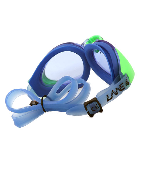 Affordable blue swimming goggles.