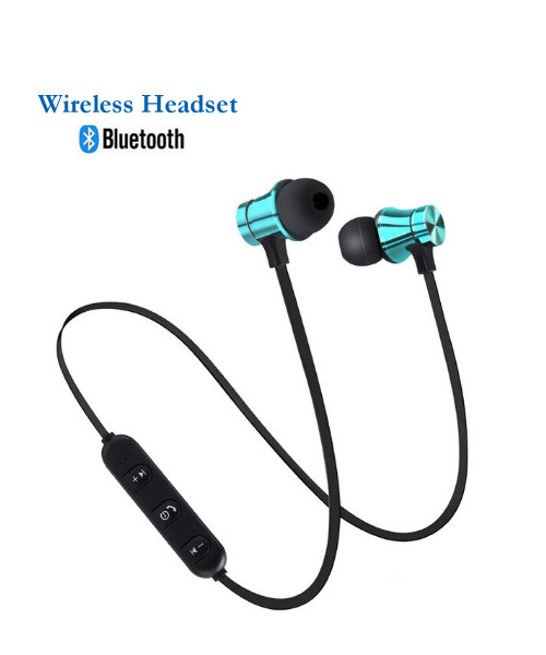 Wireless bluetooth in ear headset with mic.
