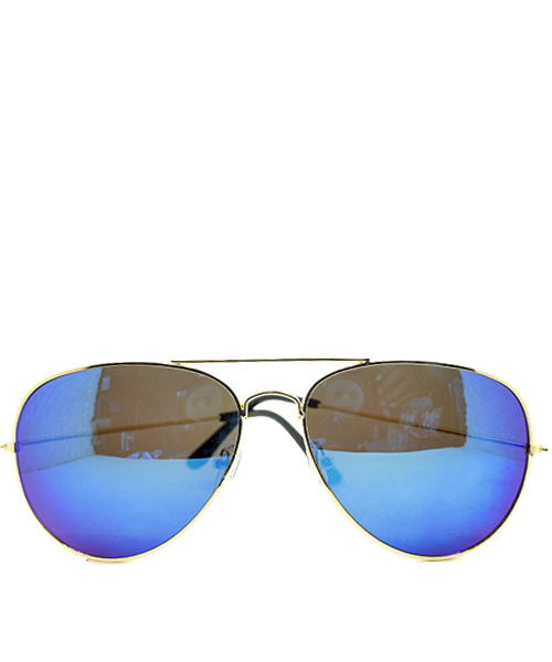 Aviator blue flash lens womens sunglasses.