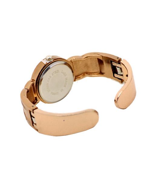 Glossy Finish Copper Bangle Cuff Watch for Women.