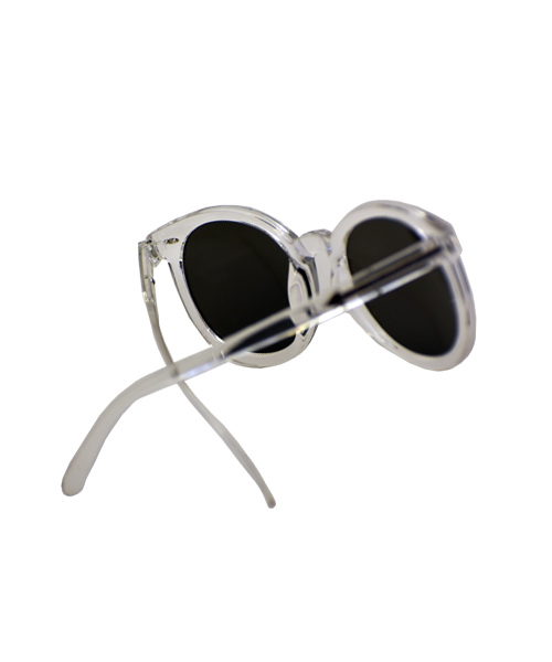 Clear sunglasses womens silver mirror reflective lens.