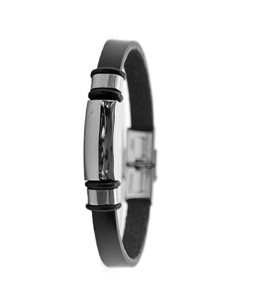 Fashionable Narrow Leather Bracelet for Boys.