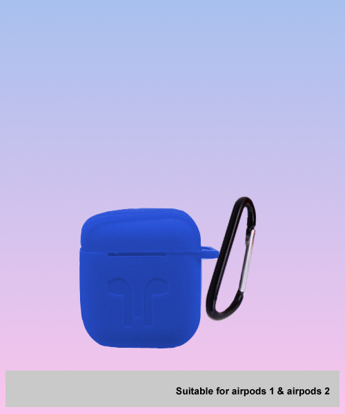 Apple Airpods soft blue case.