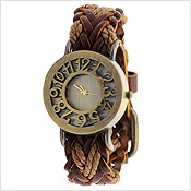Braided Vintage Girls Watch