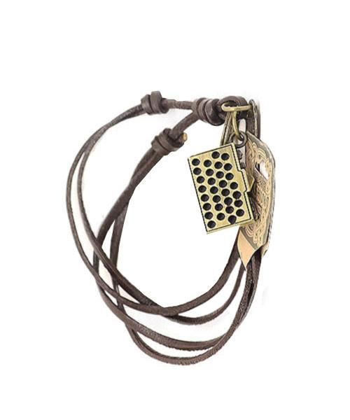 Retro alloy camera handmade leather necklace.