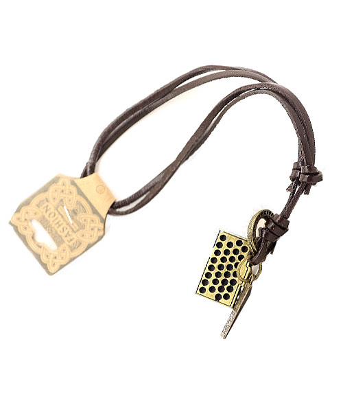 Retro alloy camera handmade leather necklace.