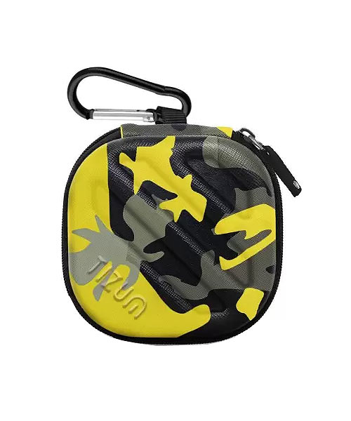 Tizum hard shell yellow camouflage carrying case.