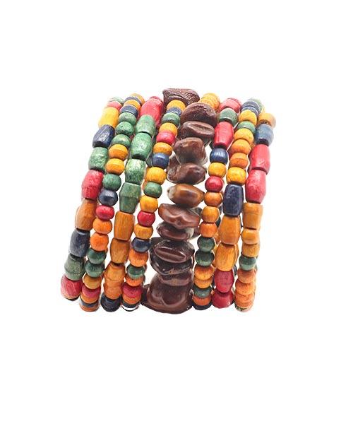 Eye Catchy Colourful Bead Wrist Band – Bracelet for Girls.