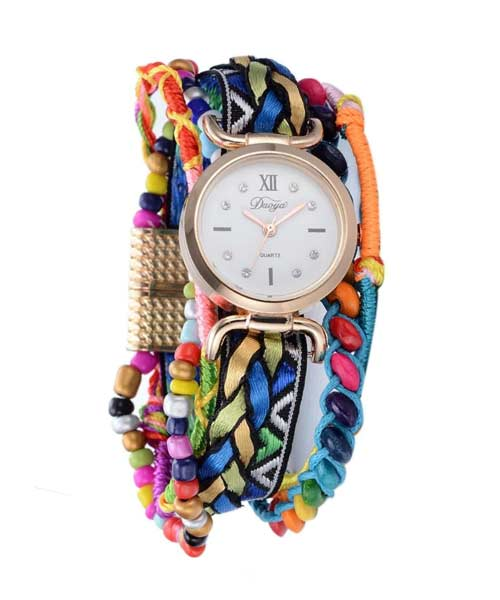 Ethnic banjara rose gold watches for women and girls.