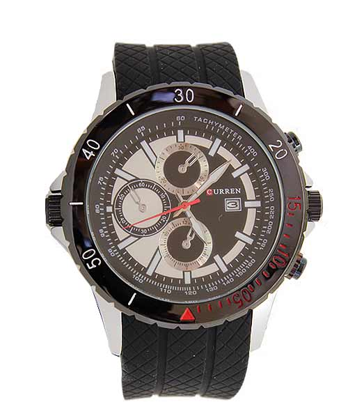 Curren 8143 Sports Calendar Mens Watch.