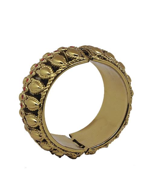 vintage Brass Chunky Bangle Bracelet.