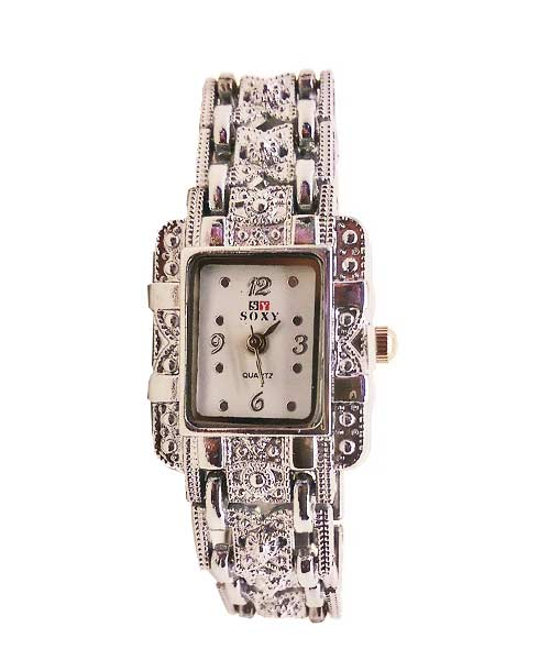 Dazzling inscribed luxury women's square watches.