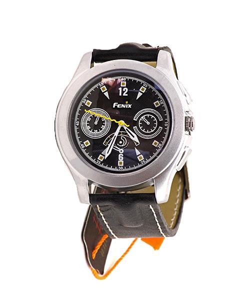 Matt silver watch for men.