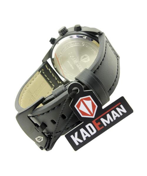 Kademan 674G mens black watch.