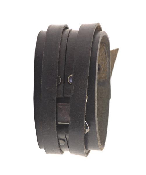 Multi-strand Multi-strap Unisex Leather Bracelet.