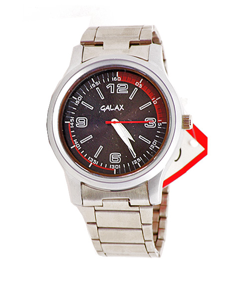 Elegant silver watch for men.