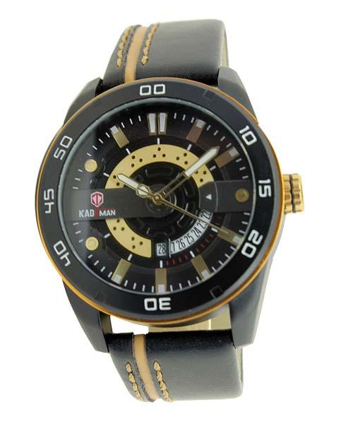 Kademan 803G Mens Leather Watch Date.