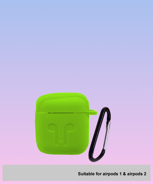 Apple Airpods soft green case.