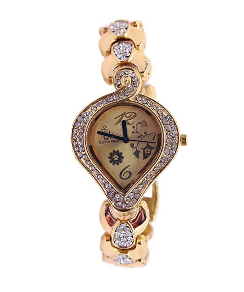 Heart Shaped Gold Watch for Girls.