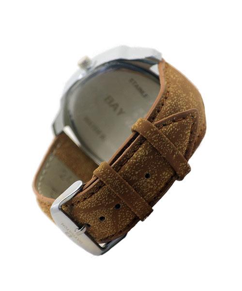 Hexagon silver alloy boys wristwatch.
