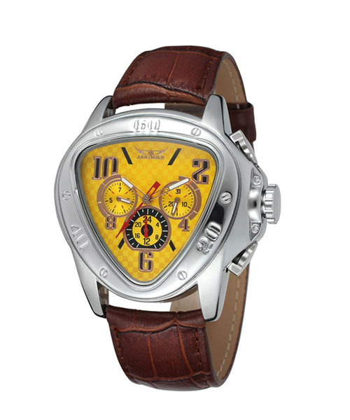 2018 Jaragar Luxury Watch Yellow Triangle Auto Mechanical.