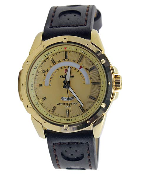 5070G Kademan mens gold watch.