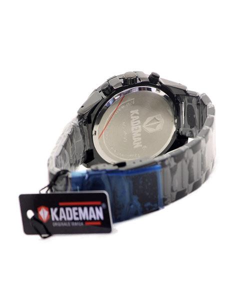 Kademan mens watch black glossy 2519G.
