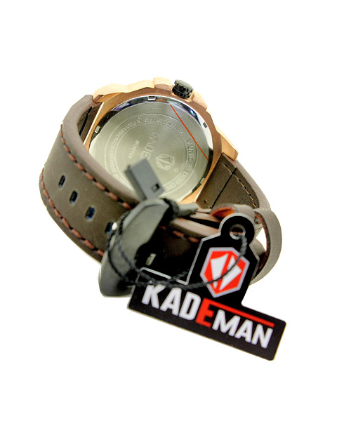 Kademan 6154 black gold mens watch.